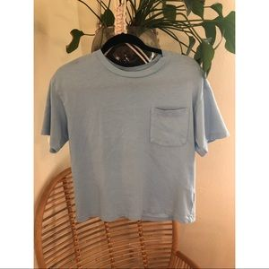 Cropped blue tee from Gap